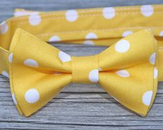 Austin: For your son who will be born on August 10thish and doesn't have a name yet? You know, the son that isn't Jacob?   Yellow Bow Tie  Yellow Bowtie  Boys Bow Tie in Yellow by littlevys, $18.00