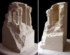 Matthew Simmonds: Romanesque Stone, Sandstone, 73 x 38 x 38 cm