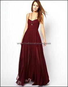 Religion Olsen Maxi Dress ~~~ the dark red makes it look more dressy and I like… Pretty Dresses, Beautiful Dresses, Gorgeous Dress, Diy Vetement, Dress Me Up, Dress Red, Dress Colour, Dress Long, Dress Black