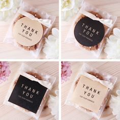 "$2.69 - 80Pcs ""Thank You"" Label Kraft Paper Seal Sticker For Weeding Party Gift Decor #ebay #Home & Garden"