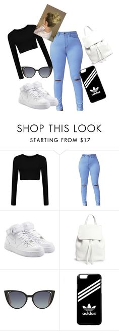 """teenage dream"" by roseat98 on Polyvore featuring NIKE, Mansur Gavriel, Fendi and adidas"