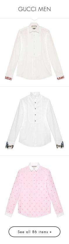 """""""GUCCI MEN"""" by iris-sunny ❤ liked on Polyvore featuring men's fashion, men's clothing, men's shirts, men's casual shirts, white, mens white french cuff dress shirts, mens white casual shirt, mens french cuff shirts, mens evening shirts and mens white cotton shirts"""