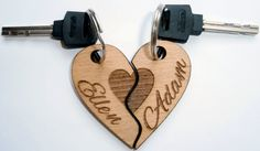 Wooden Keychains Laser Cutcouple keychainsHis and by ShadievArtem Wood Burning Crafts, Wood Burning Patterns, Wood Crafts, Couple Crafts, Wooden Keychain, Wooden Truck, Laser Art, Cnc Wood, Steel Art