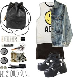 """""""we should run"""" by only-desire ❤ liked on Polyvore"""