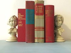 Vintage decorative Red book lot by HellwarthVintageCo on Etsy