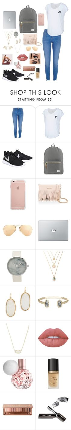 9th grade year by gabriellaallen on Polyvore featuring River Island, NIKE, Herschel Supply Co., Kendra Scott, Rebecca Minkoff, Ray-Ban, Urban Decay, Lime Crime, Too Faced Cosmetics and Bobbi Brown Cosmetics