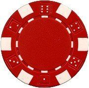 25 Clay Composite Dice Striped 11.5 gram Poker Chips, Red by Las Vegas Poker Chips. $1.49. Please choose from chip color options above before adding to your shopping cart.  These 11.5 gram Dice Striped poker chips are made of a High Quality Clay Composite Resin with a metal insert for added weight.  Each chip is made to specifications and is perfectly balanced to give the proper effect. This is one of our newest exclusive designs.