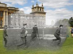 WWI photographs superimposed into modern day 2014