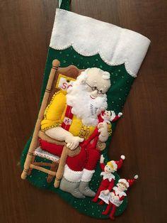 Bucilla Santa y Elf Scout sentía media de la