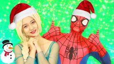 MERRY CHRISTMAS From Frozen Elsa #Spiderman Superman Batman Joker Prank ...