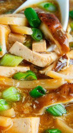 Quick and Easy Chinese Hot and Sour Soup ~ A pantry friendly Chinese hot and sour soup that is so quick and easy to make and so much better than take out that you'll never order it out again!