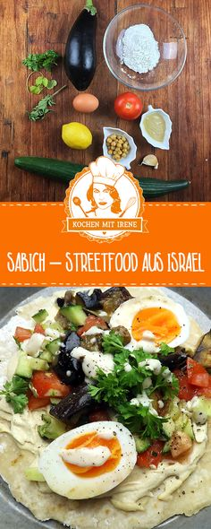 Sabich – Streetfood aus Israel Israeli cuisine is booming! No wonder, because it is extremely diverse, flavorful, consists of exotic … Falafel, Keto Food List, Food Lists, Healthy Diet Tips, Healthy Eating, Clean Eating, Vegan Snacks, Healthy Snacks, Sandwich Vegan