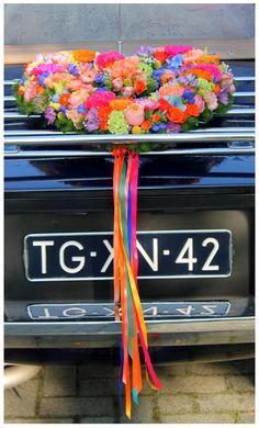 Auto bloemstuk