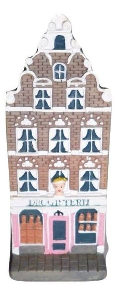 Dutch Row House Collectible Drugstore Drogisterij Handpainted Ceramic