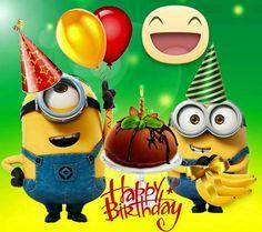 minions new year's eve clip art Minion Birthday Wishes, Happy Birthday Emoji, Birthday Wishes For Kids, Birthday Wishes And Images, Happy Birthday Messages, Happy Birthday Greetings, Birthday Wallpaper, Happy Wishes, Happy B Day