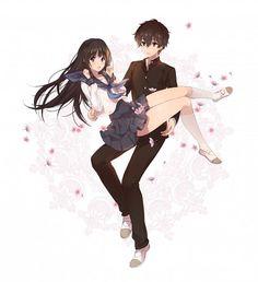 Tags: Anime, Ice (Ice aptx), Hyouka, Oreki Houtarou, Chitanda Eru, Uwabaki, Gakuran