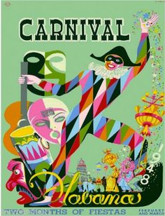 1948-Havana-Cuba-Cuban-Caribbean-Carnival-Vintage-Travel-Advertisement-Poster