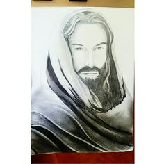 Another drawing of mine. #Jesus #Christ #Drawing #Sketch #Art