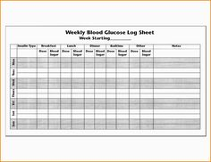 Printable Blood Glucose Chart Large Print  Diabetes