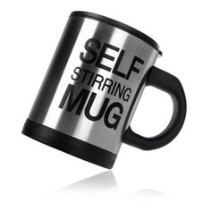 EverTrustTMAutomatic Electric Self Stirring Mug Coffee Mixing Drinking Cup Stainless Steel 350ml *** Learn more by visiting the image link.