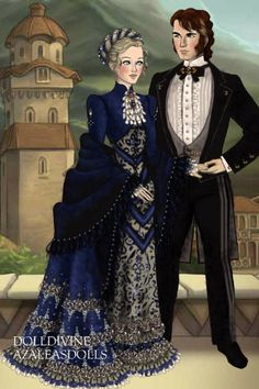 Tuxedoman with lady ~ by Inanna ~ created using the LotR Hobbit doll maker | DollDivine.com