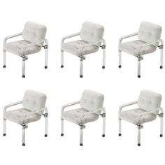View this item and discover similar for sale at - Set of six 'Pipe Line Series II Chairs' in molded Lucite with custom aluminum fittings by Jeff Messerschmidt, American, 1977 (each chair is signed, dated Lucite Chairs, Dining Chairs, Dining Room, Transforming Furniture, Design Your Dream House, Antique Lamps, Furniture Makeover, Seat Cushions, Mid-century Modern
