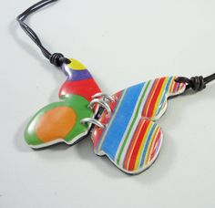 Butterfly necklace Handmade necklace Butterfly in by Crazycane