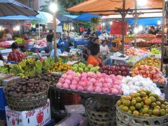 Street Food in Badung Market, Denpasar, Bali