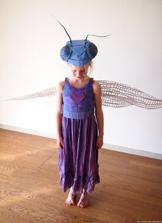 Cardboard Dragonfly Costume by Amber