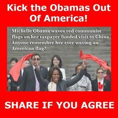 anybody remember michelle ever waving an American flag???