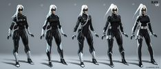 Spiderman Black Cat, Black Cat Marvel, Amazing Spiderman, Marvel Girls, Marvel Vs, Ps4 Black, Spider Man Series, Superhero Suits, Ajin Anime