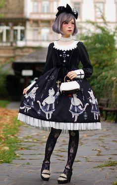 R-series -The Cats' Choir- Gothic Lolita JSK Version I #gothiclolita #lolitafashion