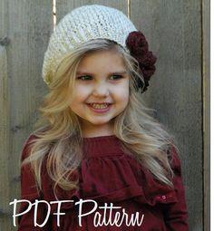 Knitting PATTERN-The Nadilynn Slouchy 12/18 от Thevelvetacorn
