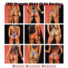 *2015 Olympia Glute Review: The BEST bums of Olympia bikini this year!! 1. Justine Munro 2. Ashley Kaltwasser 3. Catherine Radulic 4. Angeles Burke 5. Stacey Alexander 6. Dayna Maleton 7. Narmin Assria 8. Janet Layug 9. Michelle Sylvia