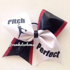 Pitch Perfect Softball Cheer Bow/Bows by RAWkstarBows on Etsy, $10.00