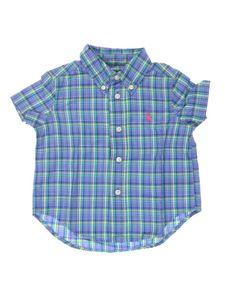 Camisa Manga Curta Azul Xadrez Infantil