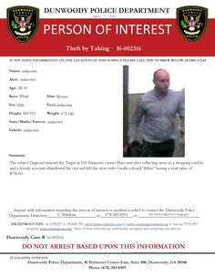 **UPDATE**SUSPECT HAS BEEN IDENTIFIED AND ARRESTED. THEFT BY TAKING: If you have any information about this case, please contact Detective Waldron at 678-382-6911 or tim.waldron@dunwoodyga.gov (LS) #dunwoodypolice
