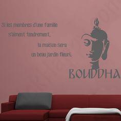 Stickers Bouddha famille : Si les membres d'une famille s'aiment tendrement, la maison sera un beau jardin fleuri de Bouddha - http://www.stickhappy.com/stickers-citation-famille/255-stickers-bouddha-famille.html