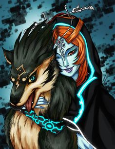 Midna and Link - Twilight Princess A puppy hug