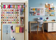 Love the organization! Pegboard Organization | Maker Spaces