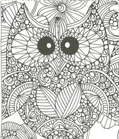 Owl coloring page Owl Coloring Pages, Coloring Sheets, Owls, Black And White, Animals, Colouring In, Activities, Disney Cartoons, Mandalas