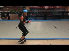 Roller Derby How-To Tutorial: Turn Around Toe Stop - YouTube
