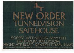 New Order, Tunnelvision, Safehouse | The Forum, London 1981