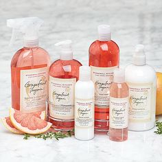 Grapefruit Thyme Fine Home Keeping Supplies! Also available in Maine Woods, Lavender Mint, Coastal Breeze, White Pine, Lemon Parsley, Herbes de Provence, Citrus Verbena, and Apple Harvest scents.