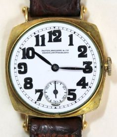 1919-Patek-Philippe-amp-Cie-18K-Gold-Men-039-s-Watch-Reference-8-includes-Extract