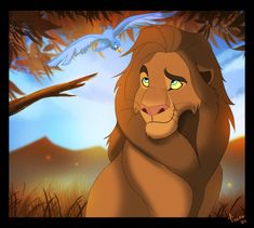 A pic I did for myself. I love Sarabi. Her over all design is just gorgeous! Sarabi and Simba (c) Disney Art (c) Emergencyuseonly/ Ashley Hodgins Colored in Photoshop CS5
