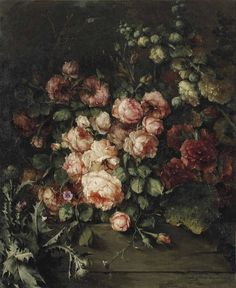 (Brown Paper Packages Tied Up With String) pintoras: Margaretha Roosenboom (Dutch, 1843 - Wild. Paint Flowers, Greek Gods And Goddesses, Renaissance Paintings, Dutch Painters, Classical Art, Vanitas, Persephone, Old Art, Aesthetic Art
