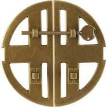 Classic Hardware 101525-09 Antique Brass Dark Circle Pull Set of 2 Sides