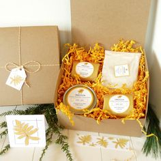 The complete JOY line of body products, beautifully gift wrapped and ready for giving.