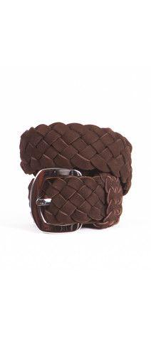 Plaited Belt - Brown